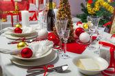świąteczny obiad był gotów służyć na — Zdjęcie stockowe