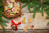 Gingerbread cookies as Christmas decoration — ストック写真