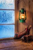 Refugio cálido en día helada de invierno — Foto de Stock