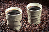 Freshly brewed retro coffee — Stock Photo