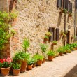 Stock Photo: Beautifully decorated street in old town in Italy