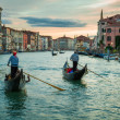 Sunset over the Grand Canal in Venice — Stock Photo