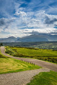 Beautiful views of the Scottish highlands in summer — Stock Photo
