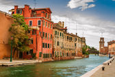 Small canal in Venice between old buildings — Stock Photo