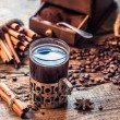 Stock Photo: Freshly brewed coffee with scent of cinnamon