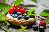 Skogen cupcake med berry frukter — Stockfoto