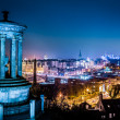 Stock Photo: Night view from Calton Hill to Edinburgh