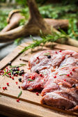 Red meat prepared for cooking — Stockfoto
