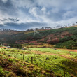 Rain clouds over a mountain valley in Scotland — Stock Photo #41420439