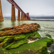 Stock Photo: Bridge Firth of Forth and bay