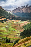 View of a mountain valley in Scotland — Stock Photo