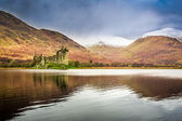 Kilchurn Castle in Winter, Scotland — Stock Photo