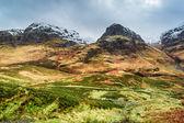 Montañas alrededor de glencoe en invierno — Foto de Stock