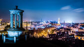 Night view from Calton Hill to Edinburgh — Stock Photo