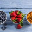 Ingredients for a healthy breakfast — Stock Photo