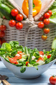 Healthy spring vegetable salad — Stock Photo