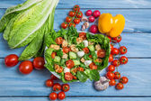 Ingredients for a healthy salad — Stock Photo