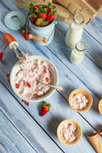 Homemade fruit ice cream — Stock Photo