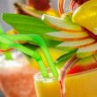 Closeup of summer drink with watermelon — Stock Photo