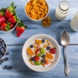 Ingredients for a healthy and nutritious breakfast — Stock Photo #42711737
