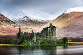 Kilchurn Castle im winter — Stockfoto