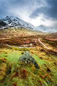 Footpath in Glencoe mountains — Stock Photo
