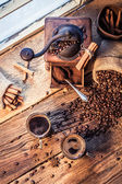 Smell of freshly brewed coffee with cinnamon — Stock Photo