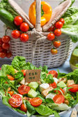 Fresh salad is a symbol of healthy eating — Stok fotoğraf