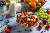Healthy salad made of fresh fruits — Stock Photo