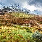 Glencoe in Winter, Highland Scotland — Stock Photo #48010635