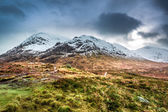Beautiful view of the Glencoe in winter — Stock Photo
