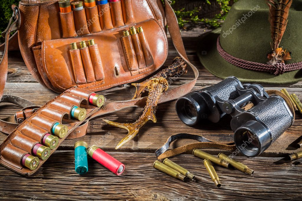 Quipement de chasse dans un pavillon de garde forestier - Equipement de chasse ...
