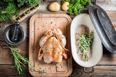 Spiced chicken before roasting — Stock Photo