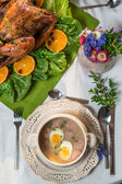 Set table for Thanksgiving — Stockfoto
