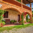 Tuscany Rural house in summer, Italy — Stock Photo #49594121