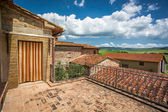 Brick balcony at old house in Tuscany — Stock Photo