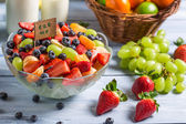 Enjoy your fresh fruit salad — Stock Photo