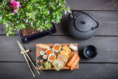 Sushi served and ready to eat — Stock Photo