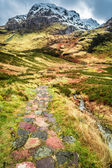 Mountain footpath in Glencoe, Scotland — 图库照片