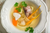 Soupe de nouilles de poulet fait maison — Photo