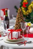 Voorbereidingen voor kerstdiner — Stockfoto