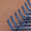 Empty sunlounger — Stock Photo