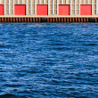 Warehouse at the docks — Stock Photo