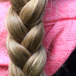 Blond braid — Stock Photo