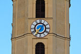 Clock on a church tower — 图库照片