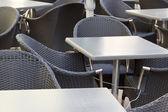 Empty cafe seats — Stock Photo