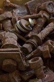 Old rusty screws — Stock Photo