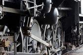 Steam locomotive detail — Stock Photo