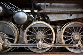 Steam locomotive detail — Stock Photo