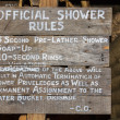 Official shower rules — Stock Photo